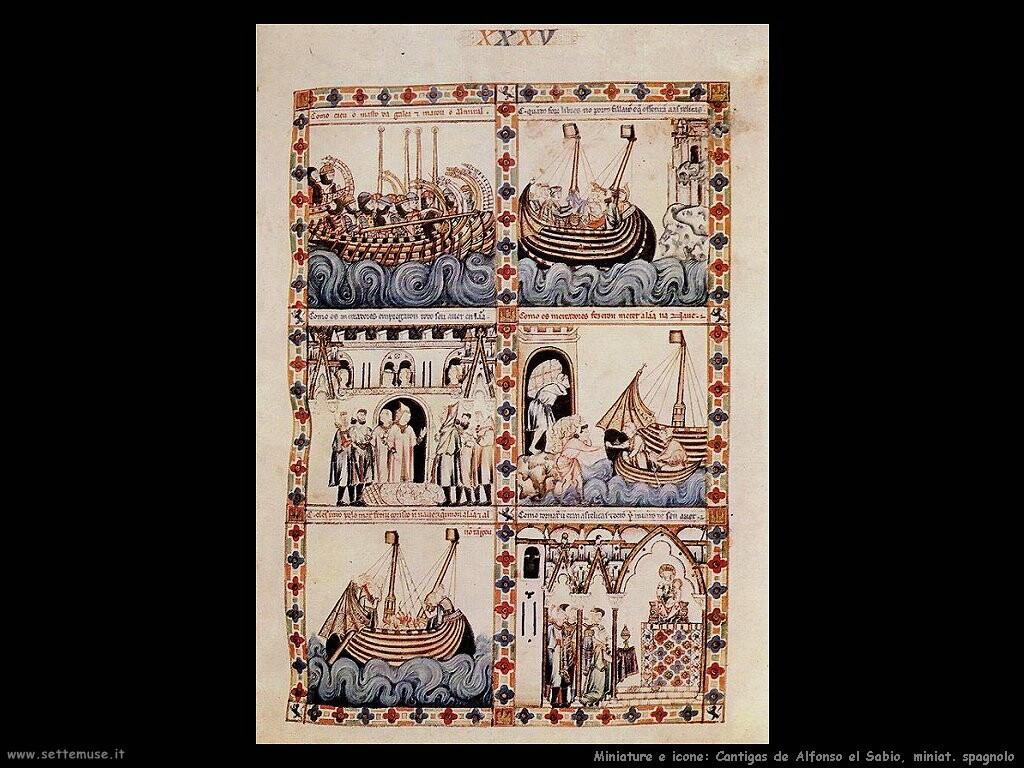miniature spagnole  Contigas de Alfonsol Sabio