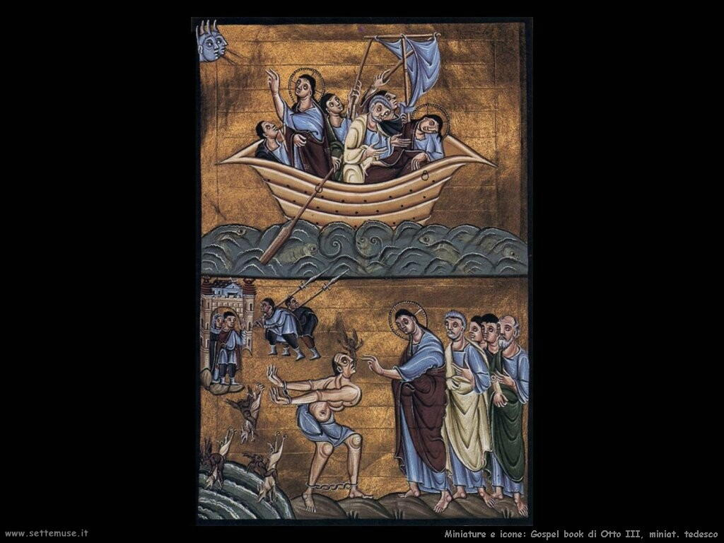 miniature tedesche Libro di gospel di Otto III