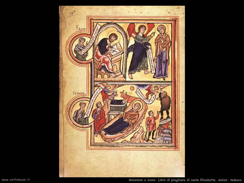miniature tedesche Libro di preghiere di santa Elisabetta