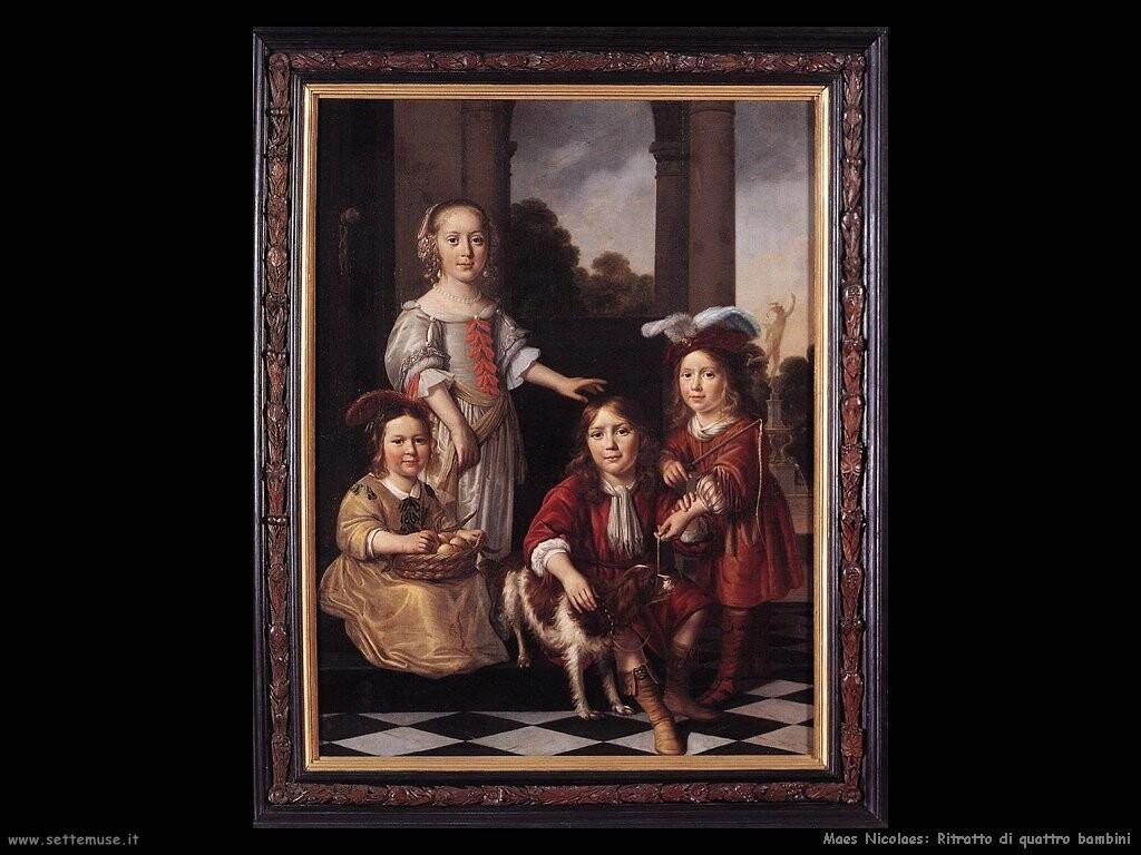 maes nicolaes   Ritratto di quattro bambini