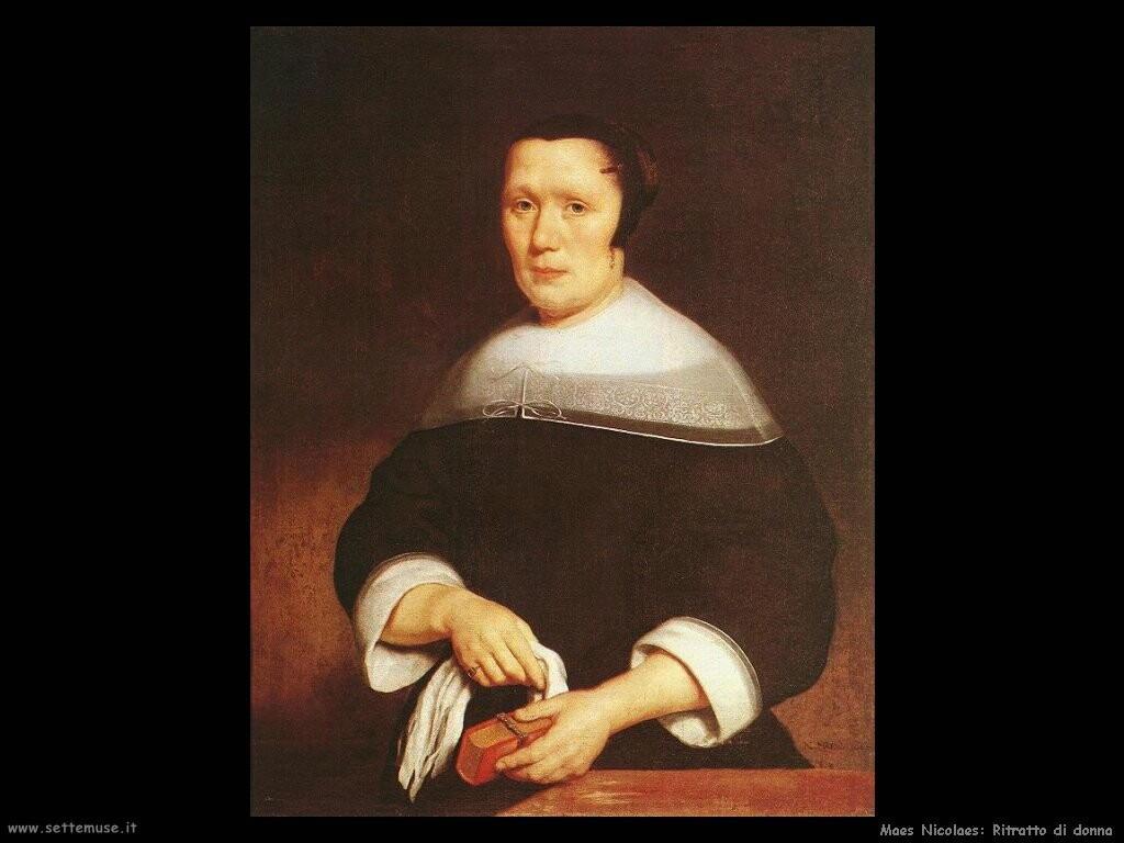 maes nicolaes Ritratto di una donna