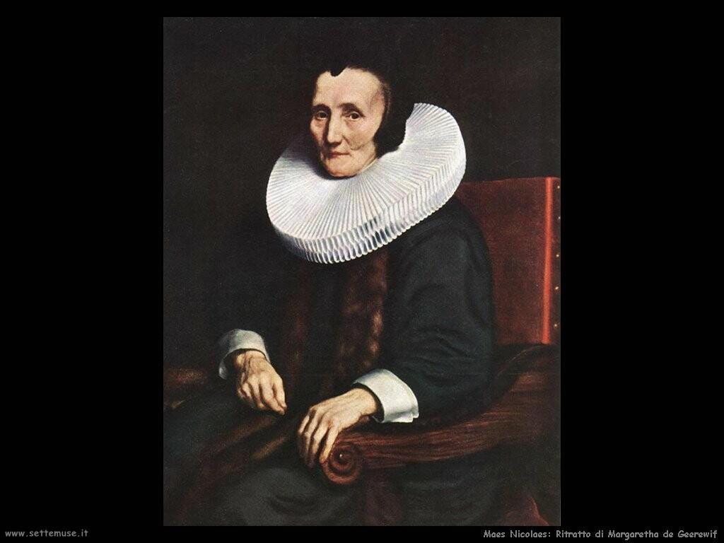 maes nicolaes Ritratto di Margaretha de Geerewif