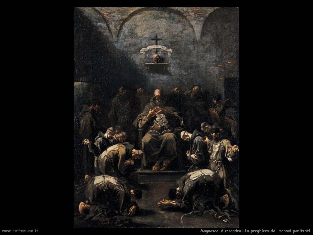magnasco alessandro  Preghiera dei monaci penitenti