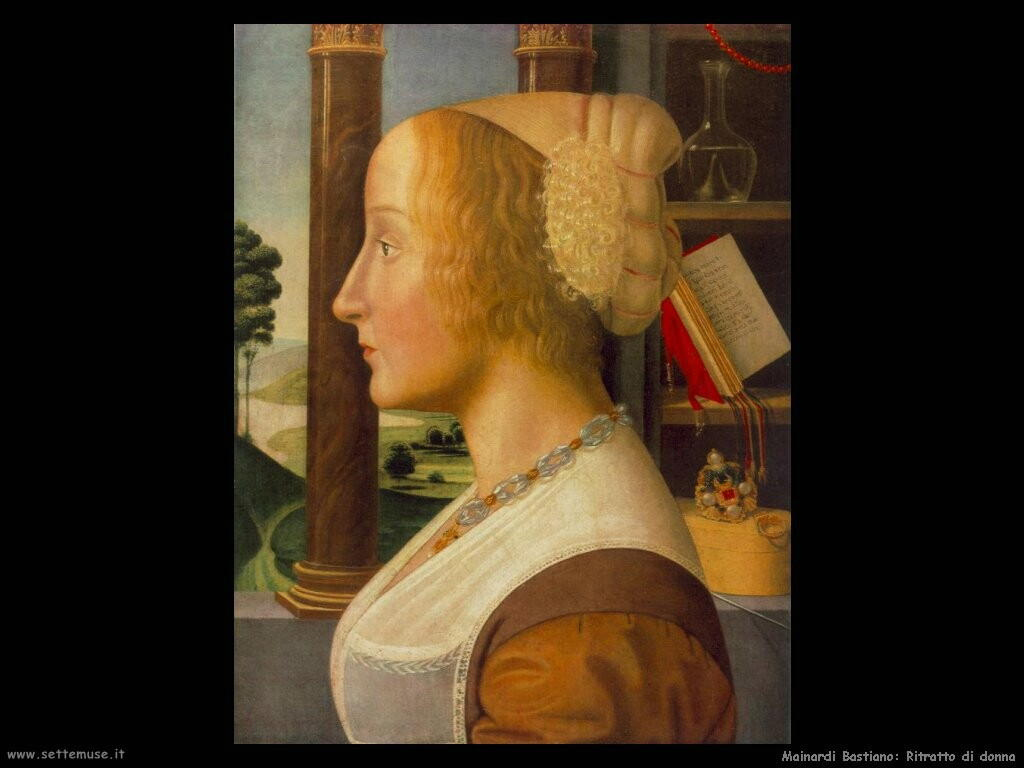 mainardi bastiano Ritratto di donna