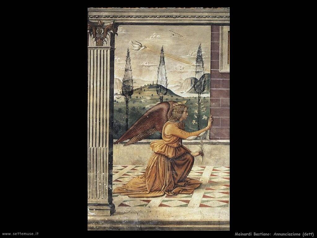 mainardi bastiano  Annunciazione (dett)