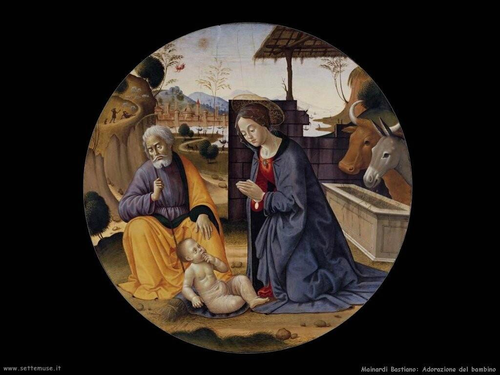mainardi bastiano  Adorazione del bambino