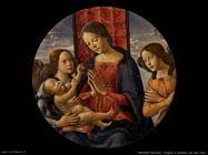 mainardi bastiano  Vergine che adora il bambino e due angeli