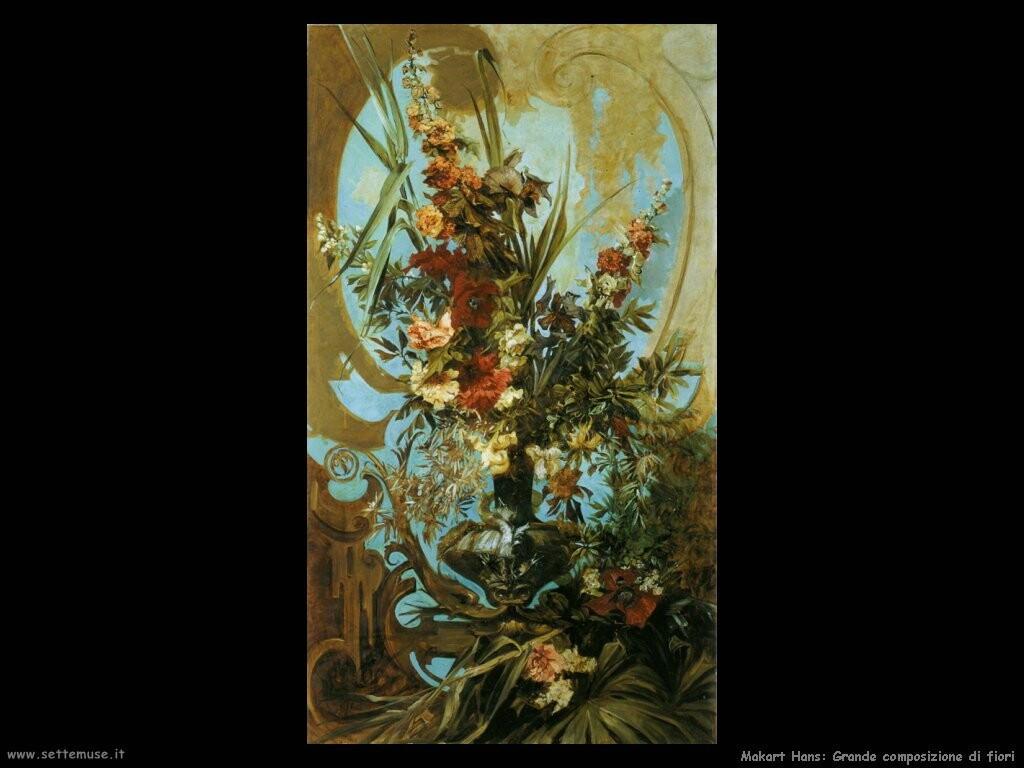 makart hans grande composizione di fiori