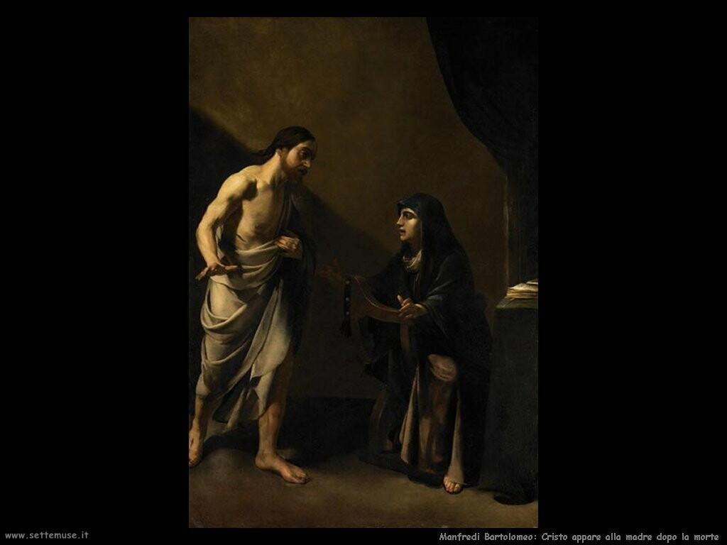 manfredi bartolomeo  Cristo appare alla madre dopo la morte