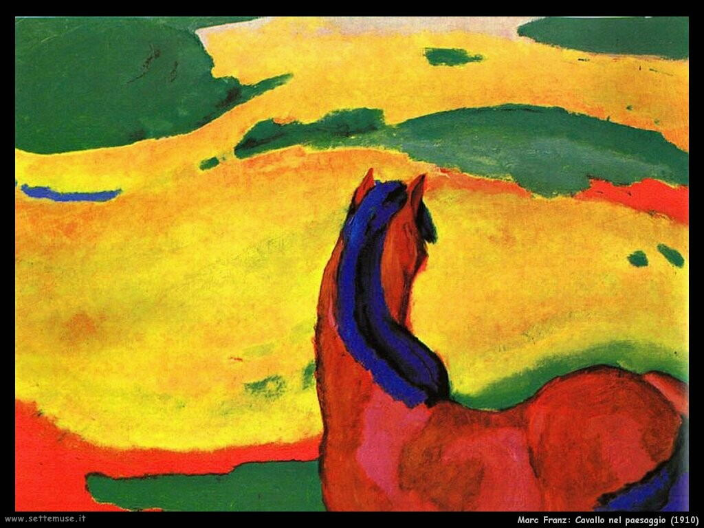 marc franz Cavallo nel paesaggio (1910)