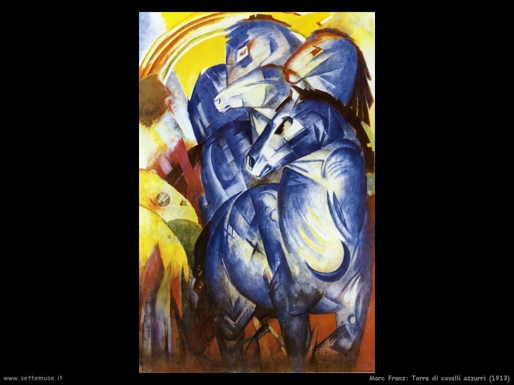 marc franz Torre di cavalli azzurri (1913)