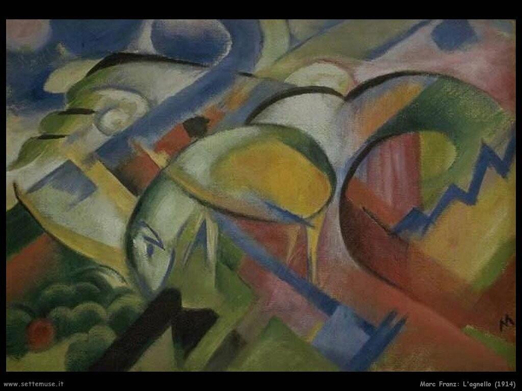 marc franz L'agnello (1914)