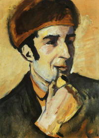 mark franz ritratto da august macke 1910