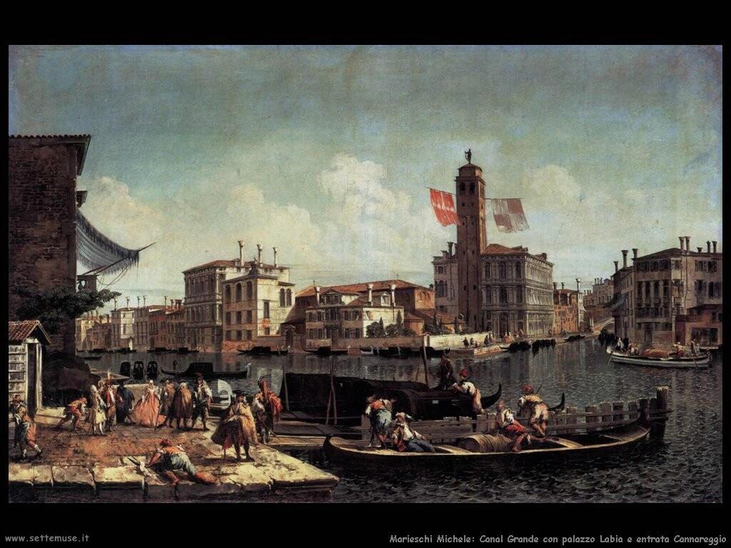 marieschi michele Canal Grande con palazzo Labia e entrata Cannareggio