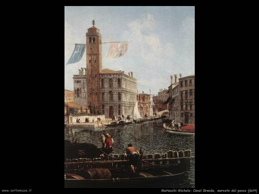 marieschi michele  Canal Grande con mercato del pesce (dett)