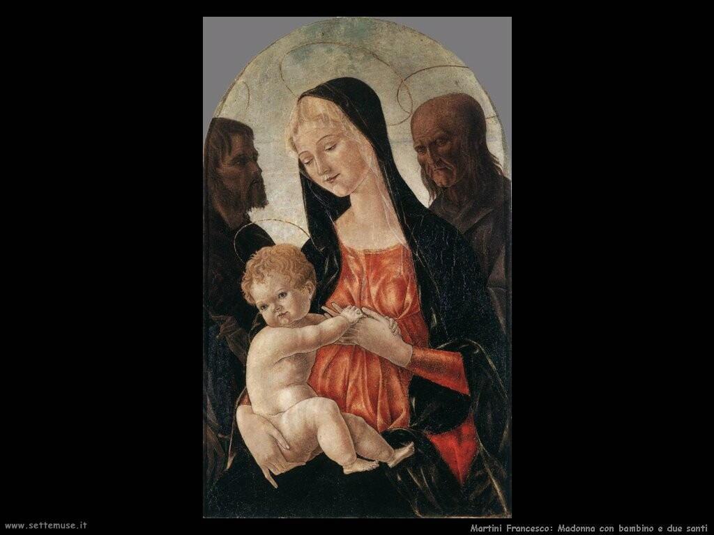 martini francesco di giorgio Madonna con bambino e due santi