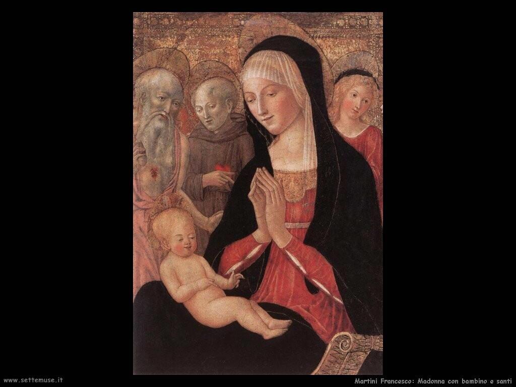 martini francesco di giorgio Madonna con bambino e santi