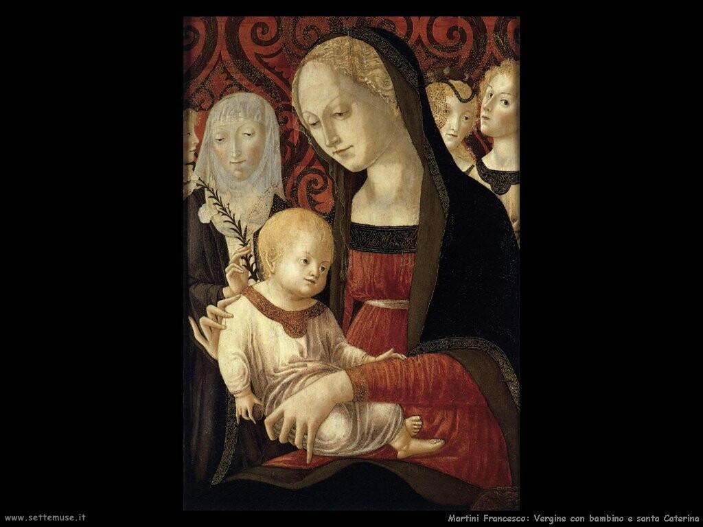martini francesco di giorgio Vergine con bambino e santa Caterina