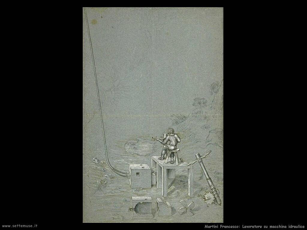 martini francesco di giorgio Lavoratore su macchina idraulica
