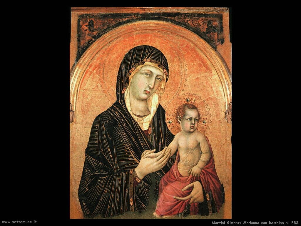 martini simone Madonna con bambino n.583