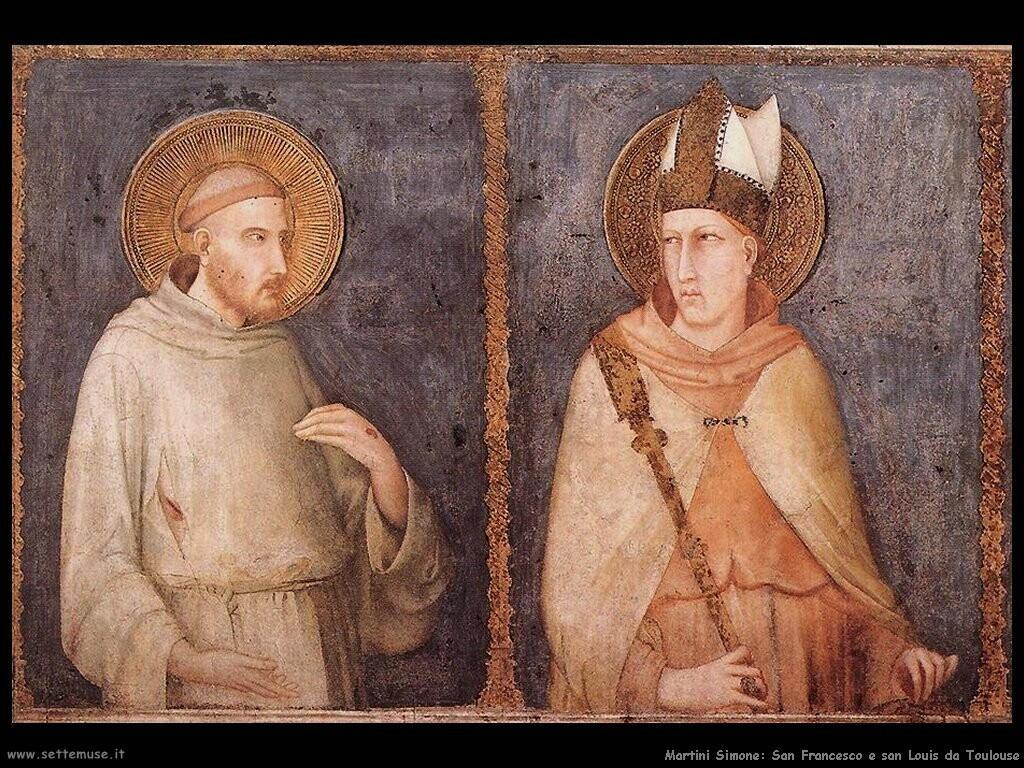 martini simone  San Francesco e san Louis di Toulouse