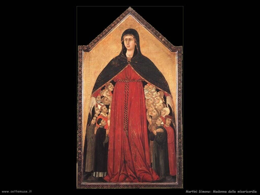 martini simone Madonna della misericordia