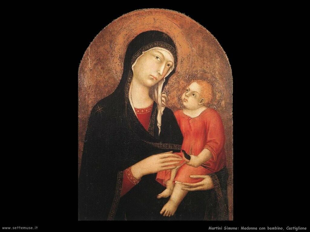 martini simone Madonna con bambino da Castiglione