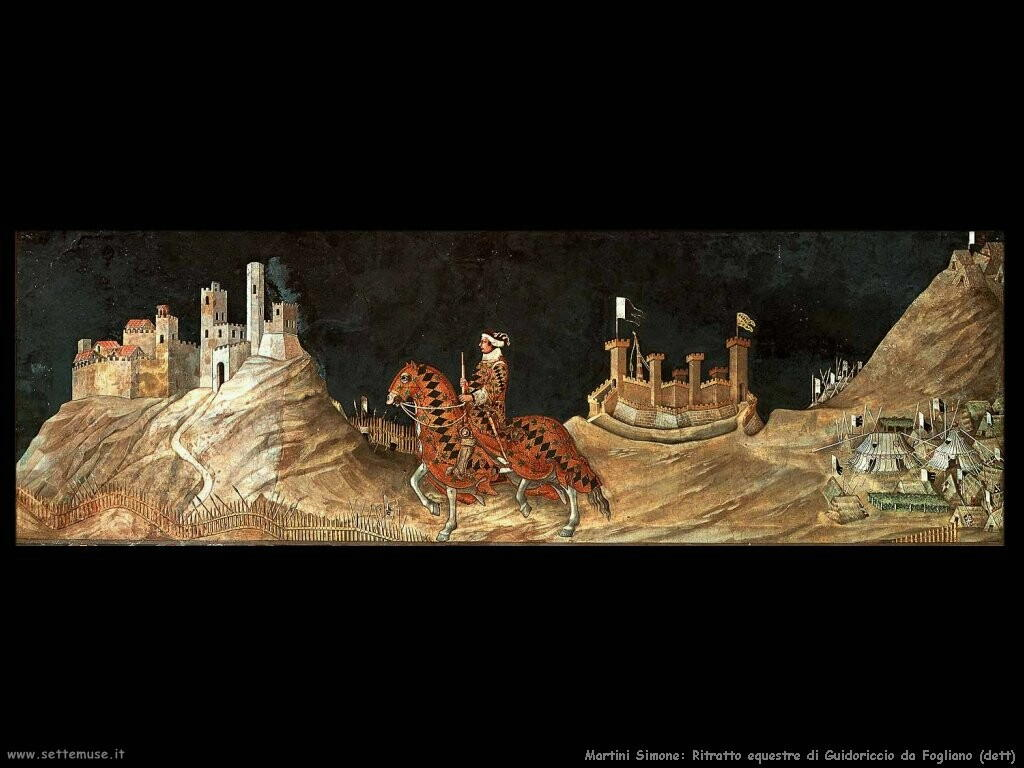 martini simone Ritratto equestre di Guidoriccio da Fogliano (dett)