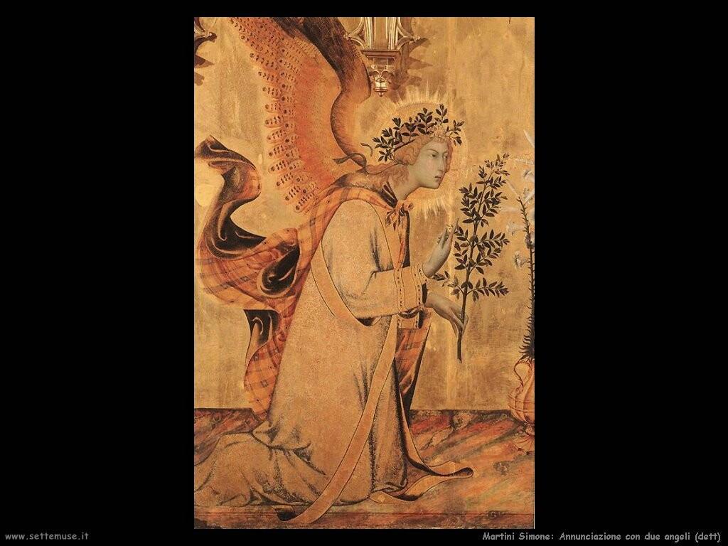martini simone  Annunciazione e due santi (dett)