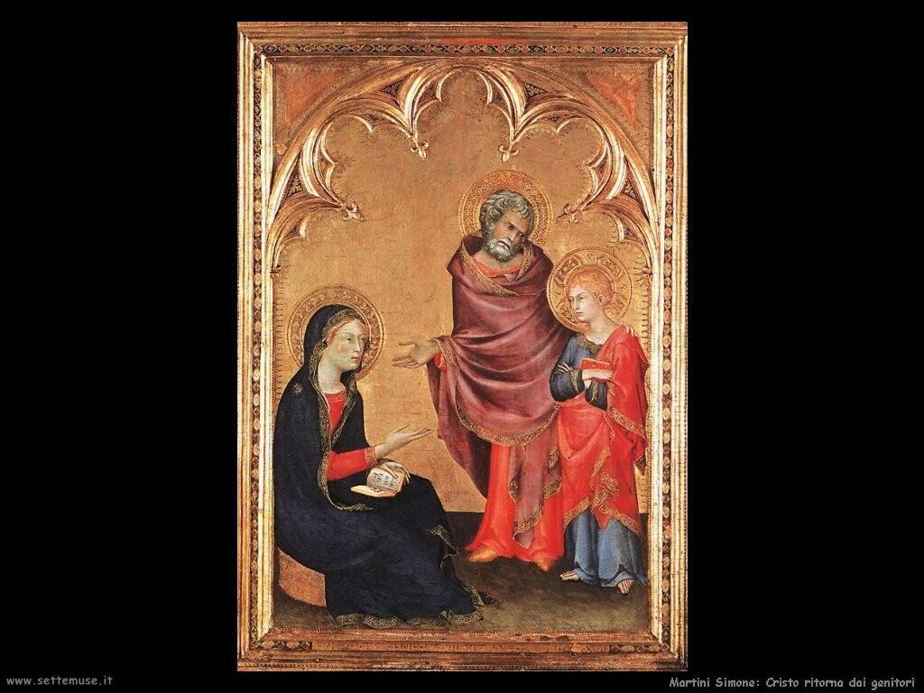 martini simone Cristo ritorna dai genitori