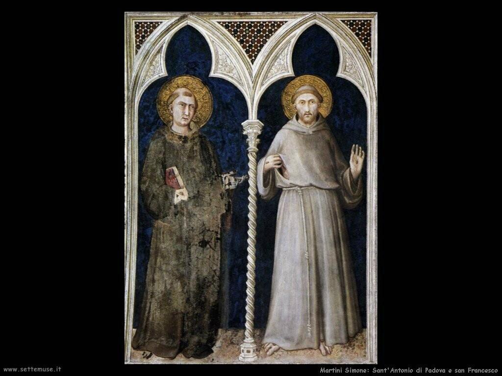 Simone Martini - San Francesco e sant'Antonio
