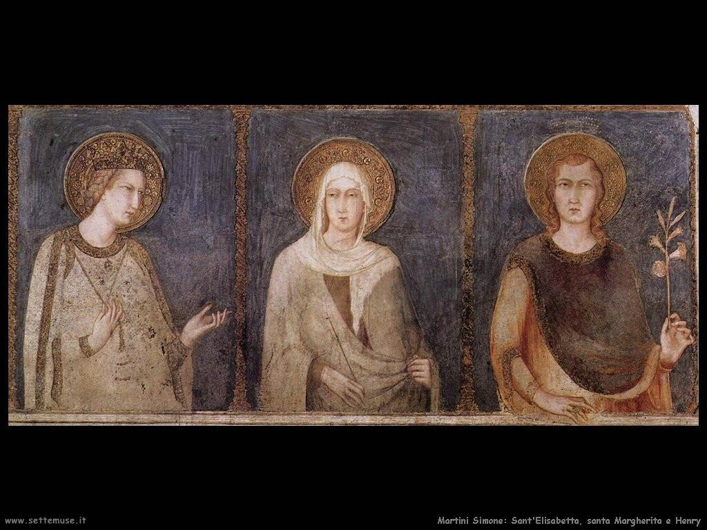 martini simone Santa Elisabetta santa Margherita ed Enrico