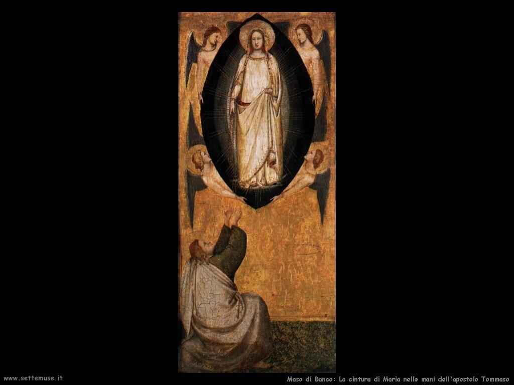 maso di banco La cintura di Maria nelle mani di san Tommaso
