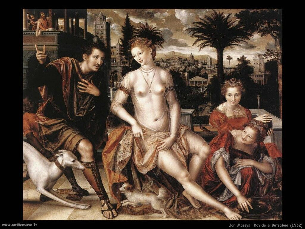 jan massys Davide e Betsabea (1562)
