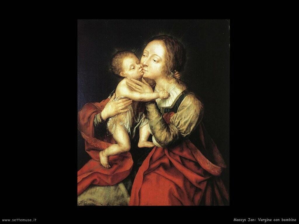 massys jan Santa Vergine con bambino