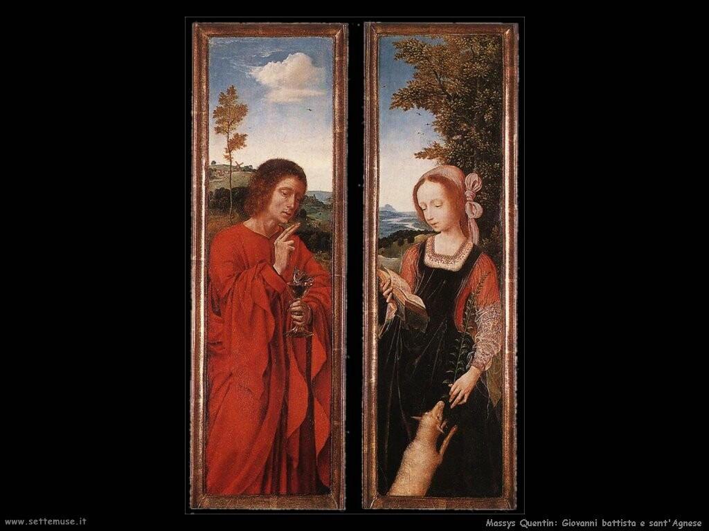 massys quentin Giovanni battista e sant'Agnese