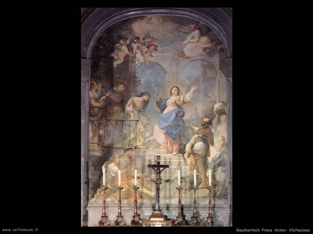 maulbertsch franz anton Visitazione, incontro con Maria
