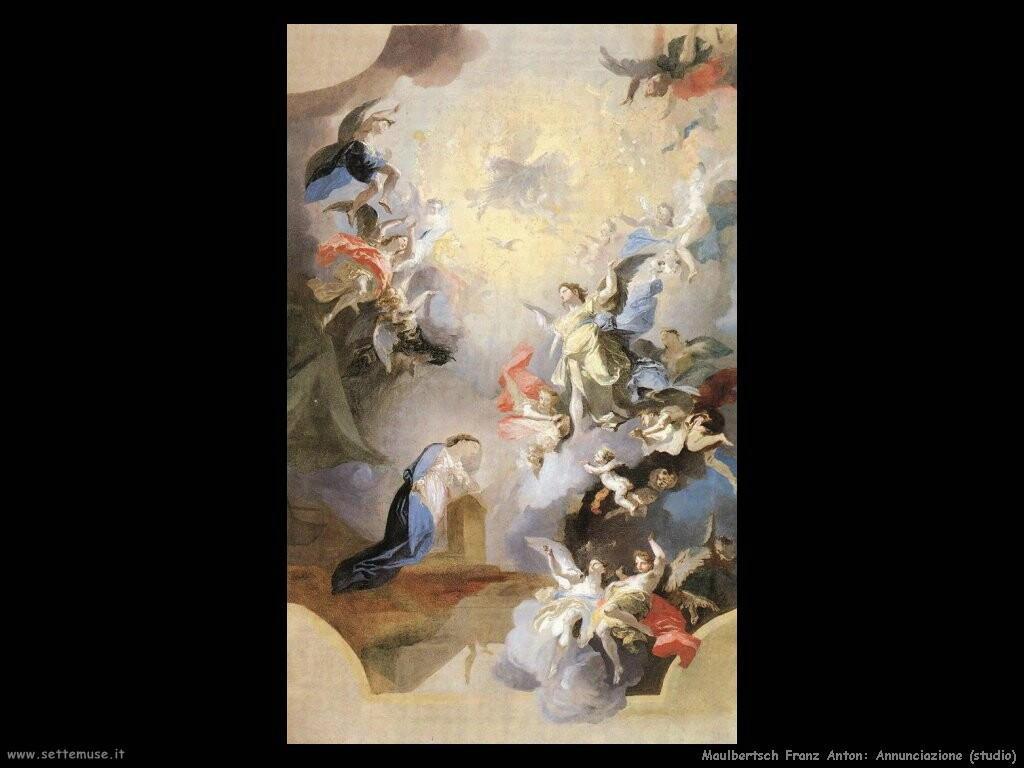 maulbertsch franz anton Annunciazione (studio)