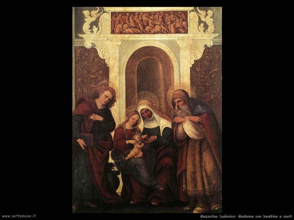 mazzolino ludovico Madonna con bambino e santi