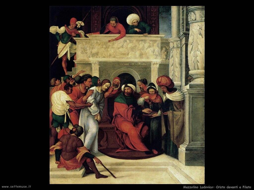 mazzolino ludovico Cristo davanti a Pilato