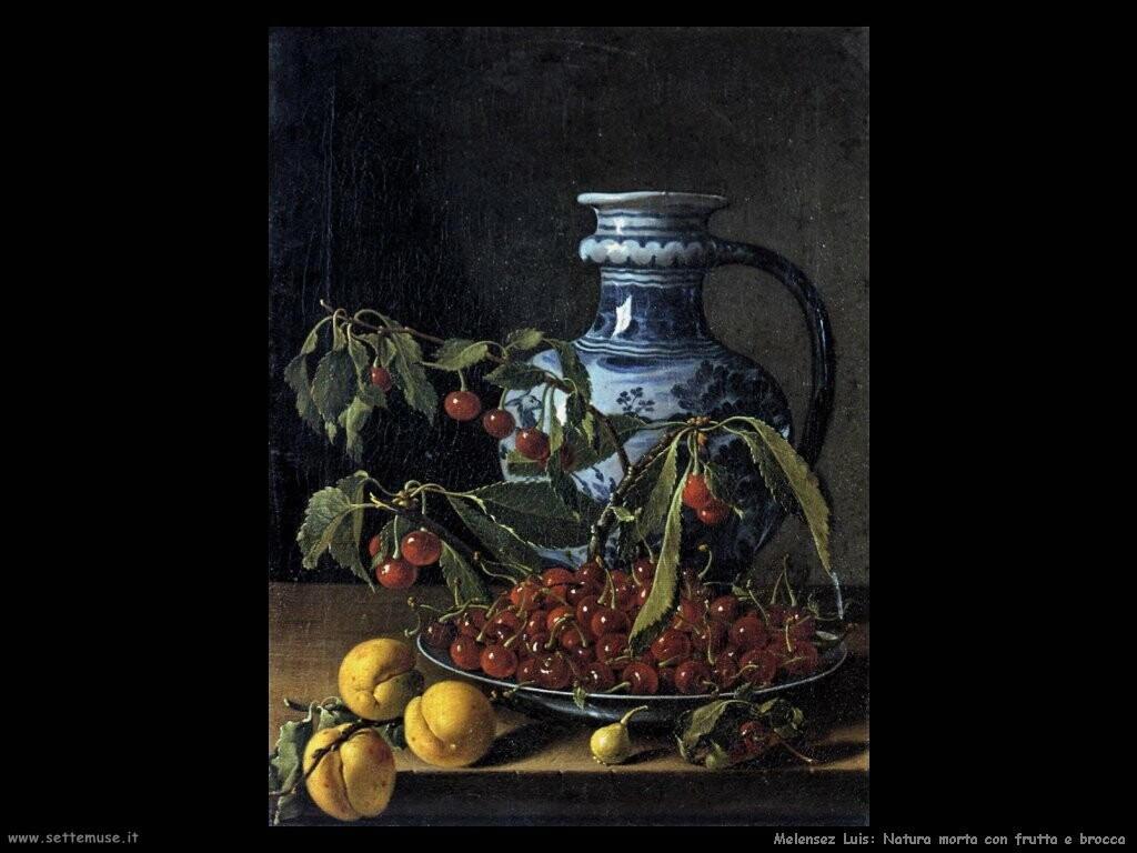 melendez luis Natura morta con frutta e una giara