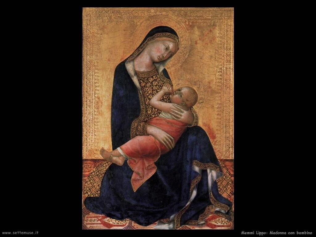 memmi lippo  Madonna con bambino