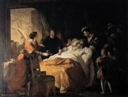 menageot francois guillaume  La morte di Leonardo da Vinci