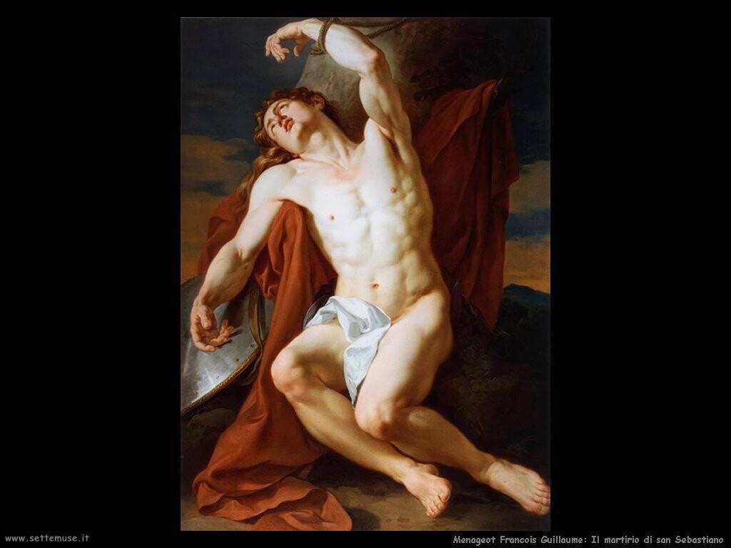 menageot francois guillaume  Il martirio di san Sebastiano