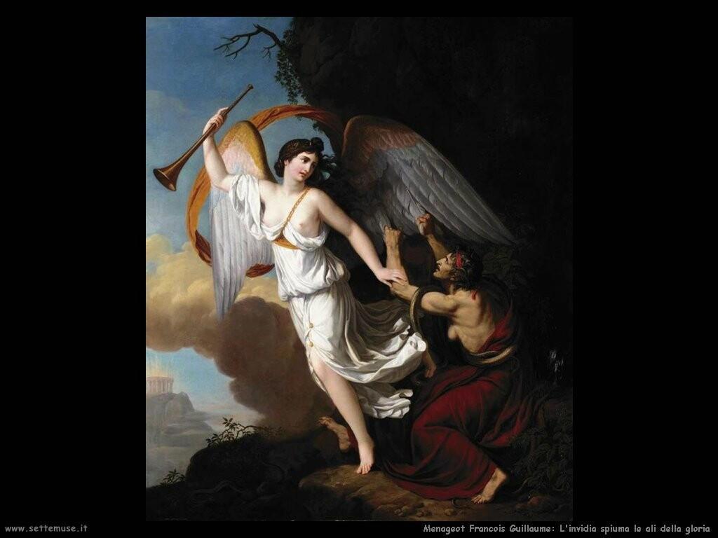 menageot francois guillaume  Invidia taglia le ali di Fama