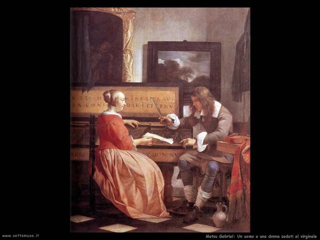 metsu gabriel Un uomo e una donna al virginale