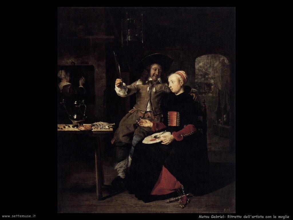 metsu gabriel Ritratto dell'artista con sua moglie