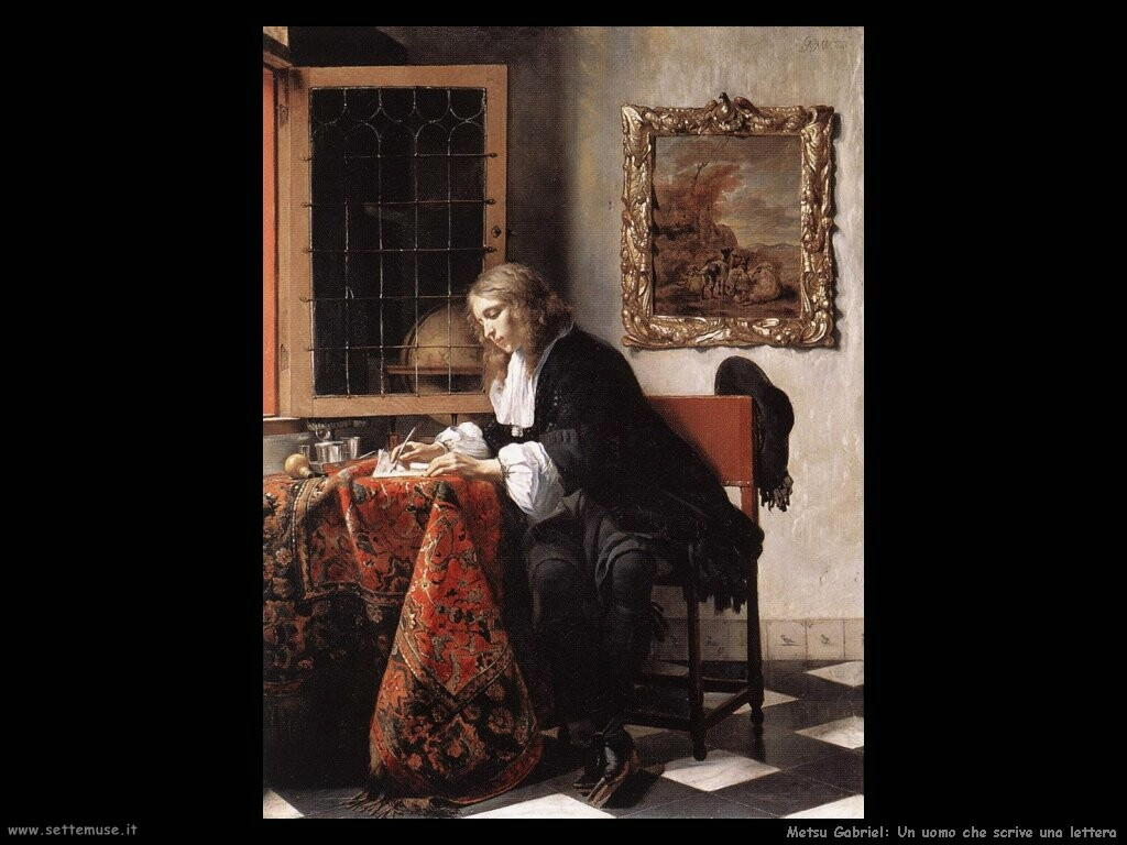 metsu gabriel Un uomo scrive una letterar