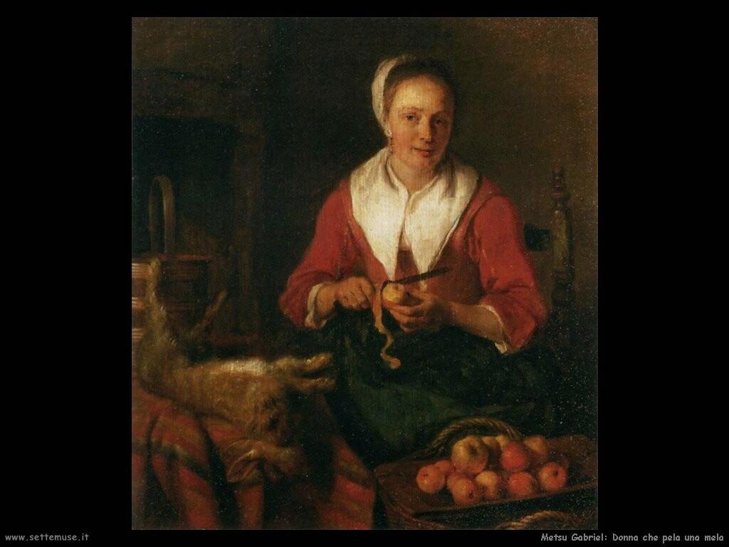 metsu gabriel  Donna che pela una mela