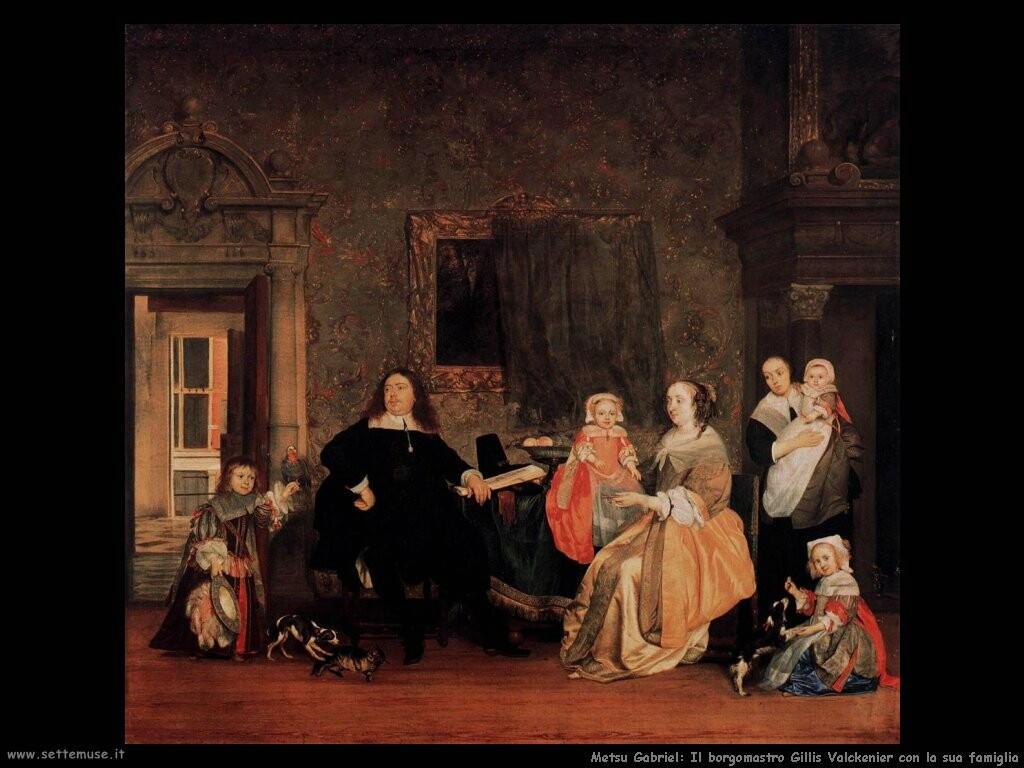 metsu gabriel Il borgomastro Gillis Valckenier e la sua famiglia